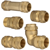 Isiflo metalfittings til PVC- og PE-rør